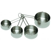 Update International MEA-Cup 4-Piece Stainless Steel Measuring Cup Set