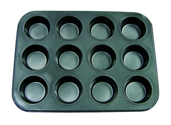Update International MPNS-12 Non-Stick Carbon Steel Muffin Pan 12 Cup