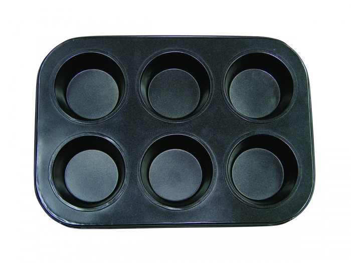 Update International MPNS-6 Non-Stick Carbon Steel Muffin Pan 6 Cup