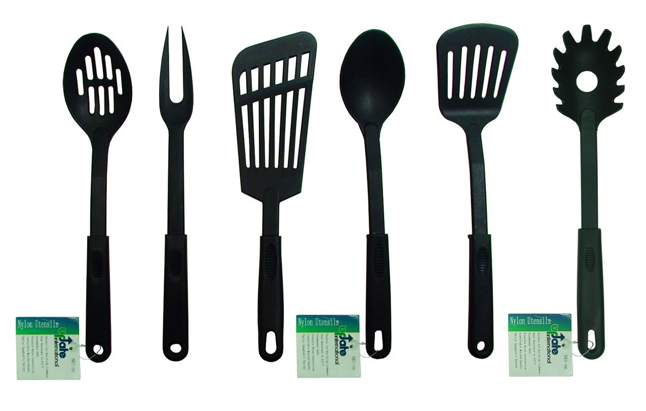 Update International NKU-01 Black Nylon Solid Spoon 12-1/2""