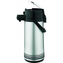 Update International NLD-22/BK/SF Brushed Stainless Steel 2.2 Liter Lever Airpot