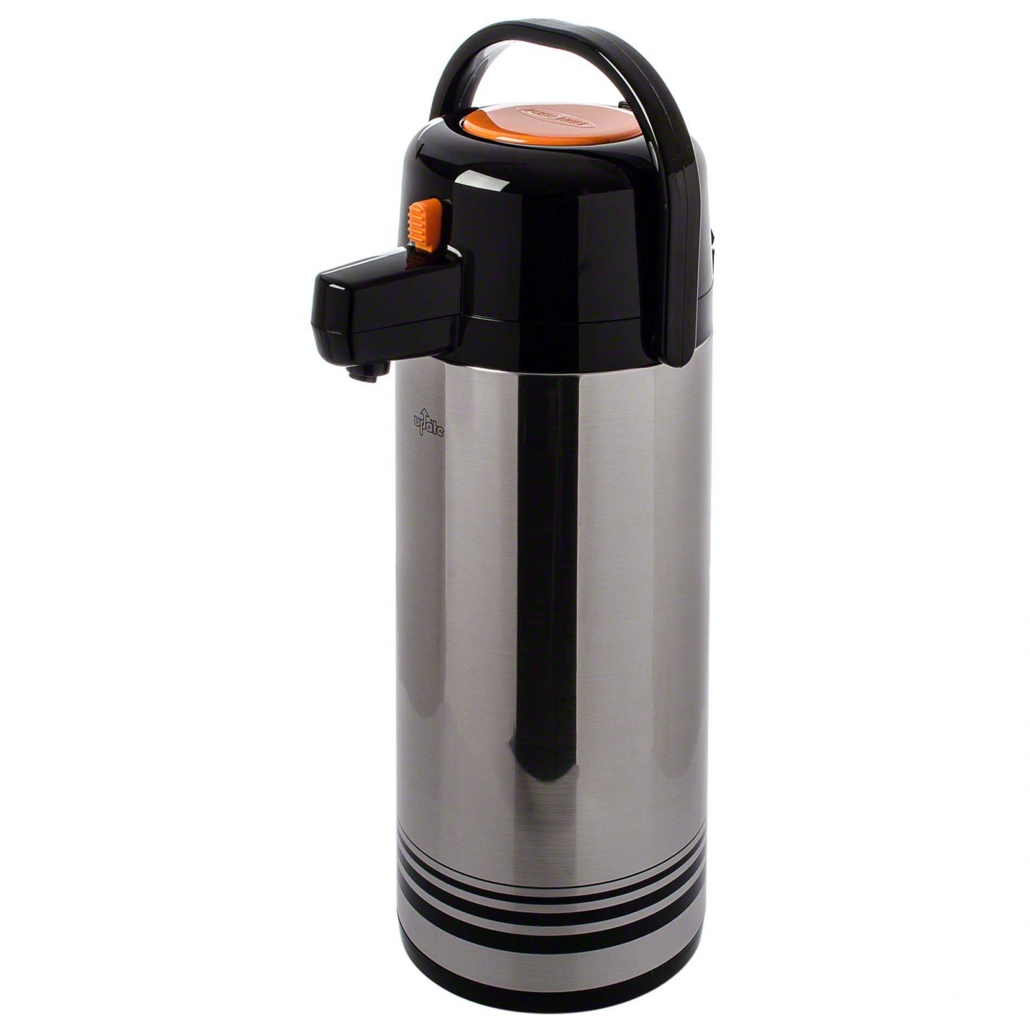 Update International NPD-25/OR/SF Brushed Stainless Steel 2.5 Liter Decaf Push Button Airpot