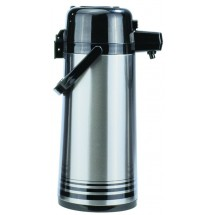 Update International NPD-25/BK/SF Brushed Stainless Steel 2.5 Liter Push Button Airpot