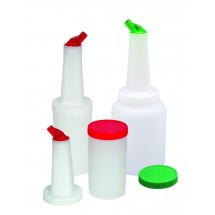 Update International PBA-10 1 Qt. Pour Bottle with Assorted Color Lids - 12 pcs