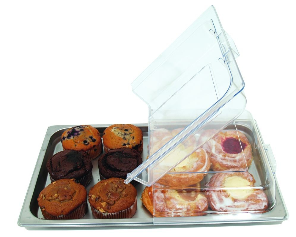 Update International PC-1/HDC  Full Size Polycarbonate Hinged Display Pan Cover