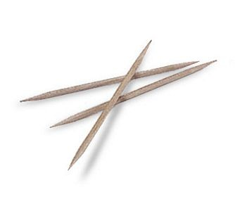 Update International PC-DP 2000 Piece Double Pointed Toothpicks - 2000 pcs