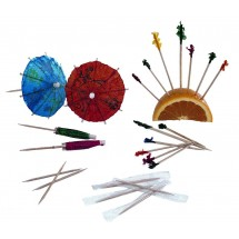 Update International PC-PAR 144-Piece Parasol Toothpicks  - 144 pcs