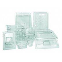 Update International PCP-25LDC Polycarbonate 1/4 Size Solid Cover