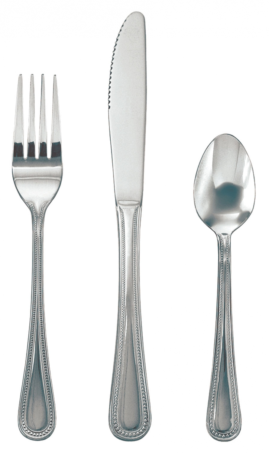 Update International PL-82 Pearl Heavy Weight Bouillon Spoon - 1 doz
