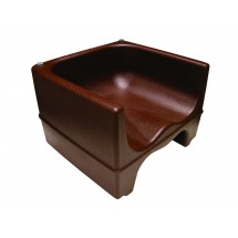Update International PP-BC/BR Brown Plastic Booster Chair