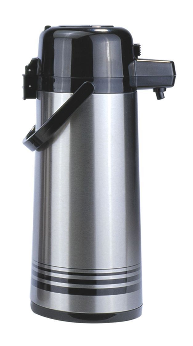Update International PSVL-25/BK/SF Stainless Steel 2.5 Liter Push Top Airpot