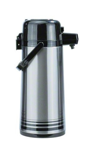 Update International PSVL-30/OR / SF Stainless Steel 3 Liter Decaf Push Top Airpot