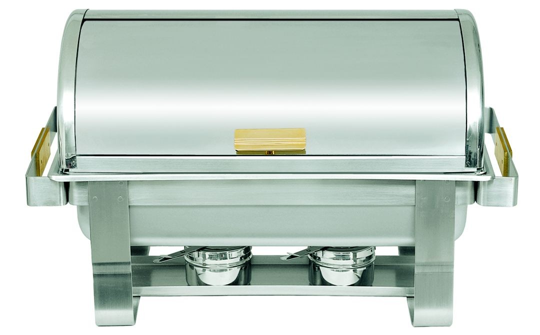 Update International RTC-8 Roll-Top Chafer with Brass Handles 8 Qt.