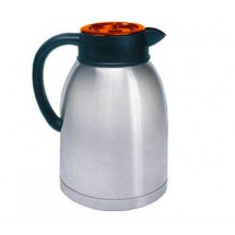 Update International SA-19/OR / BT Stainless Steel Coffee Server with Orange Brew-Thru Top 1.9 Liter