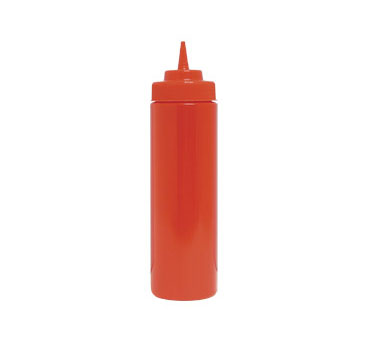 Update International SBR-32W Red 32 Oz. Wide Mouth Squeeze Bottle - 1/2 doz