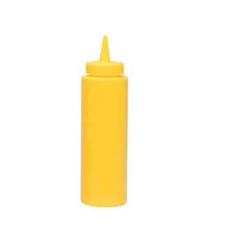 Update International SBY-24 Yellow 24 Oz. Squeeze Bottle - 1/2 doz
