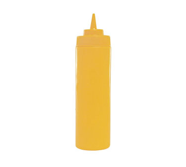 Update International SBY-32W Yellow 32 Oz. Wide Mouth Squeeze Bottle - 1/2 doz