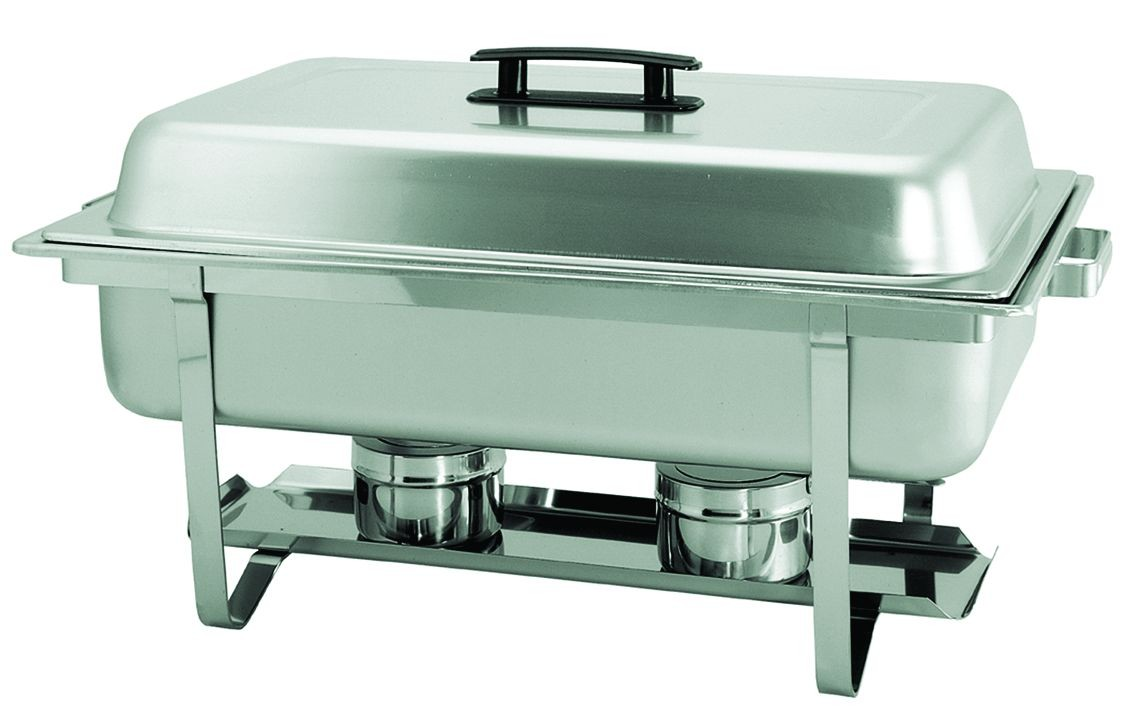 Update International SCC-16P Full Size Stainless Steel Rectangular Stackable Chafer