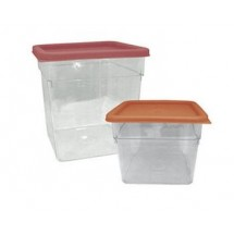 Update International SCQ-4PC Polycarbonate 4 Qt. Square Storage Container