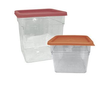 Update International SCQ-6PC Polycarbonate 6 Qt. Square Storage Container
