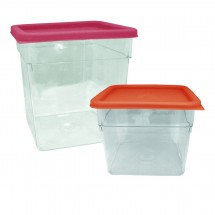 Update International SCQL-MPE Red Polycarbonate 6 to 8 Qt. Square Storage Container Cover