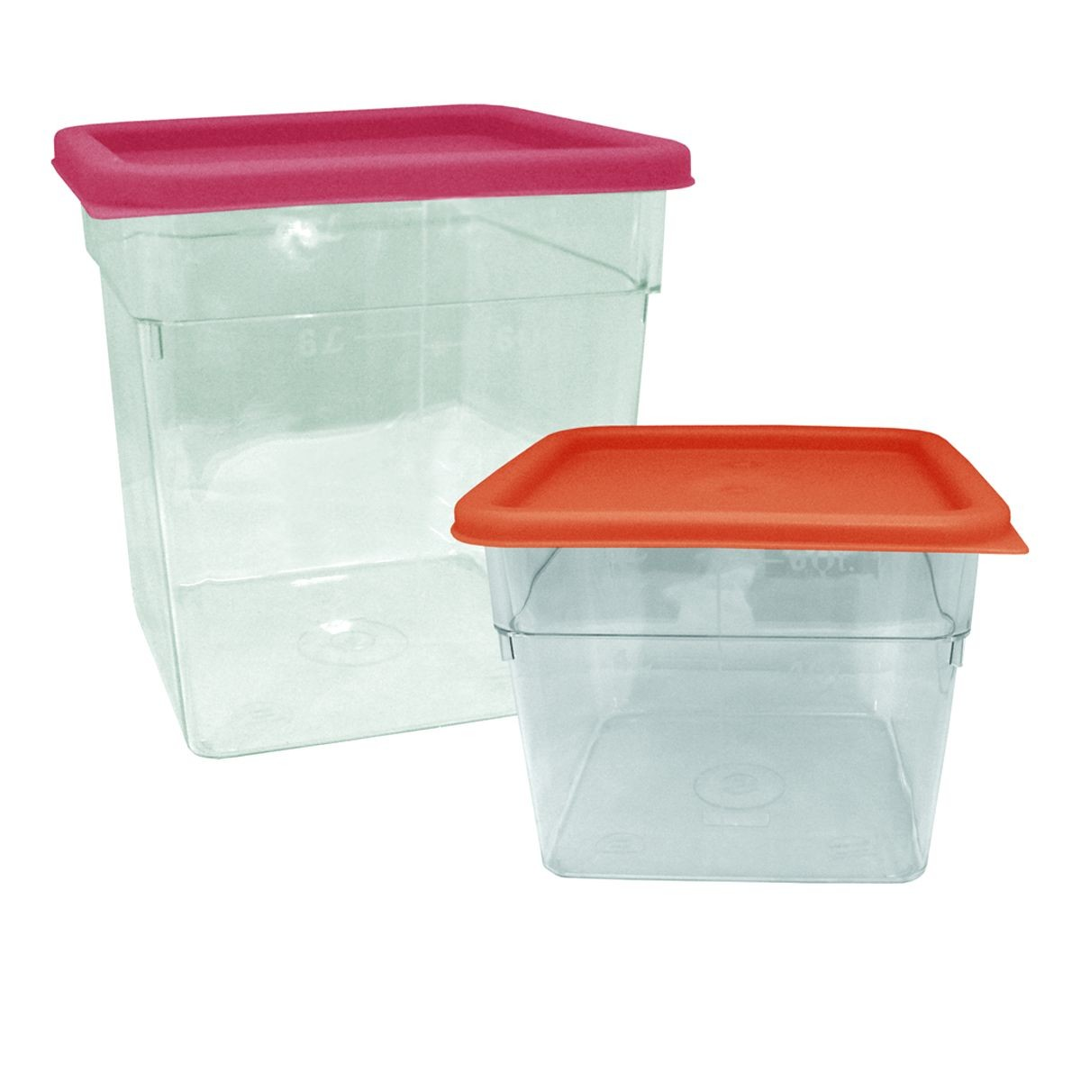 Update International SCQL-SPE Green Polycarbonate 2 to 4 Qt. Square Storage Container Cover