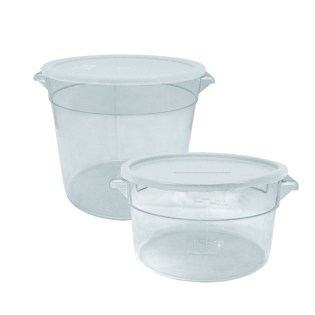Update International SCRL-SPE White Polycarbonate Cover for 2-4 Qt. Round Storage Container
