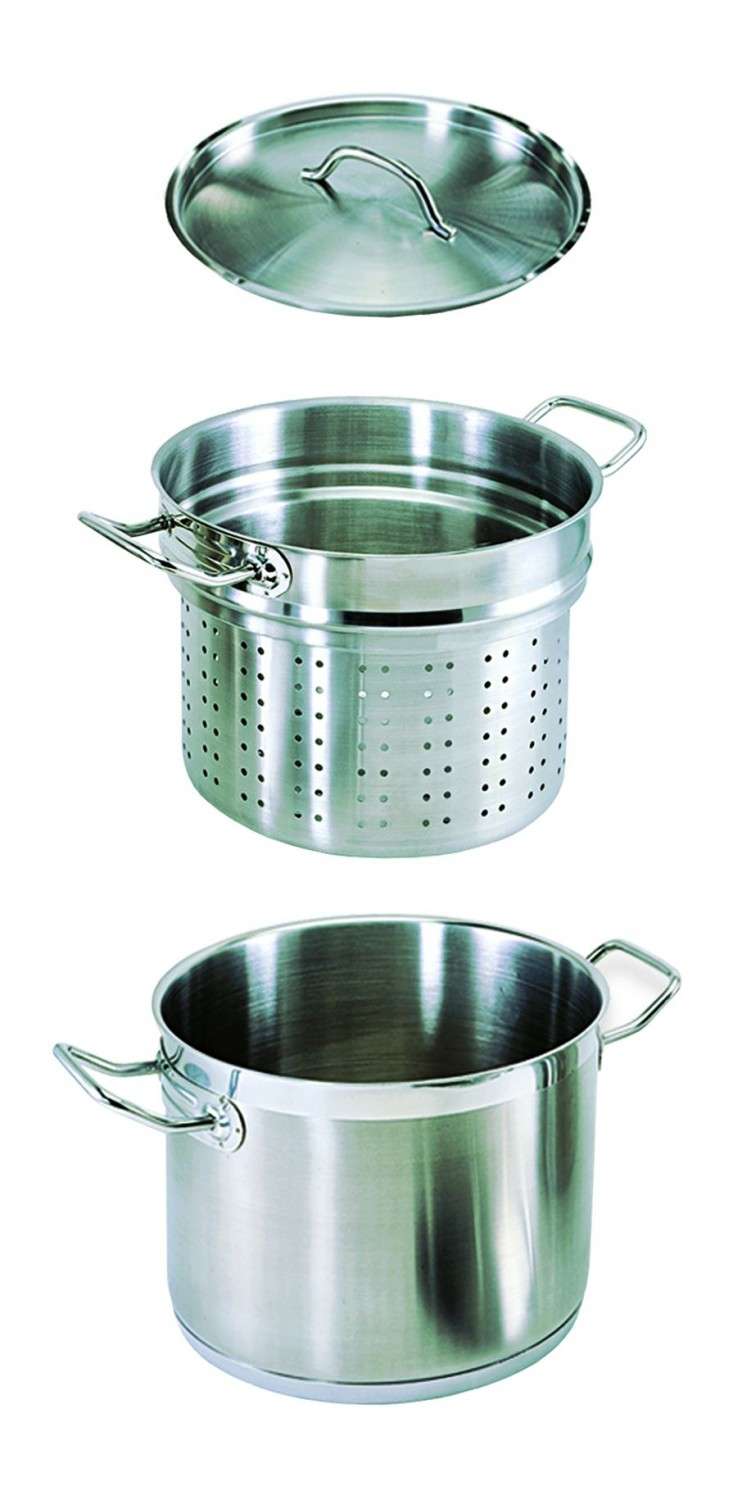Update International SDB-20 Stainless Steel Double Boiler 20 Qt.