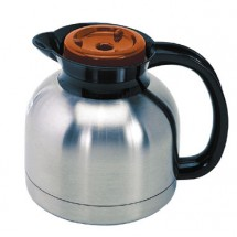 Update International SE-19X / OR Sup-R-Serv Vacuum Insulated Coffee Server with Orange Lid 1.9 liter