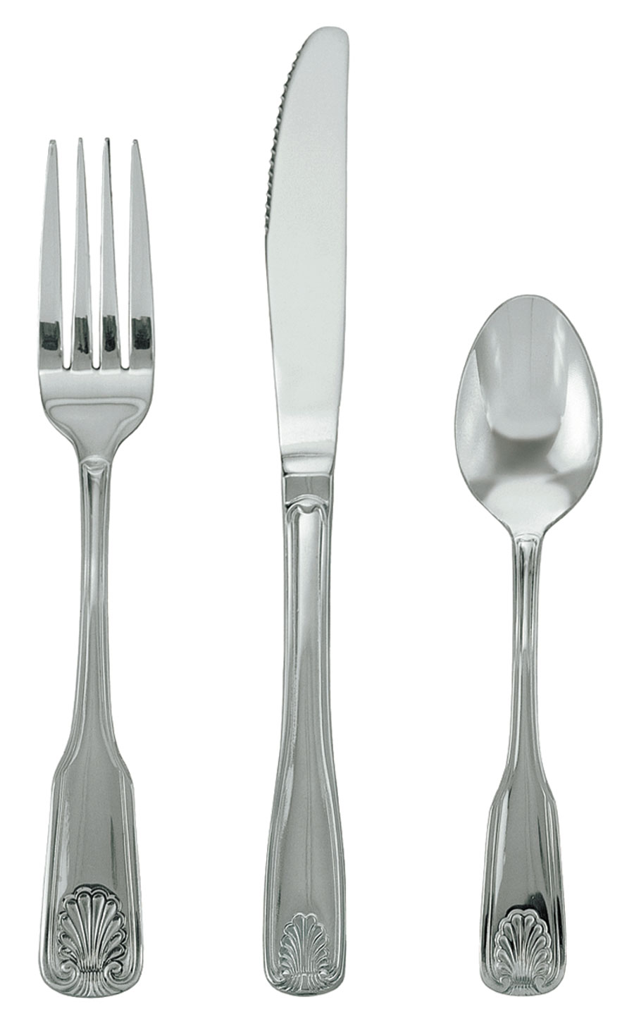 Update International SH/CP-501 Clear Pack Shelley Teaspoons 18/0 Stainless Steel - 1 doz