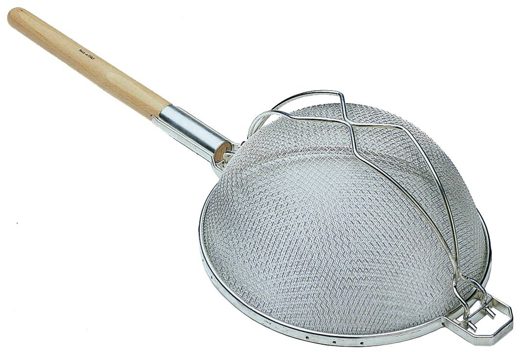 Update International SHD-12/SS Stainless Steel Reinforced Double Mesh Strainer 11-3/4""