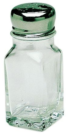 Update International SK-SM 2 Oz. Glass with Chrome Plated Mushroom Top Shaker - 1 doz