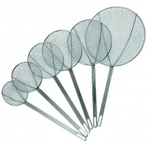 Update International SKM-6WG Nickel-Plated Round Medium Mesh Skimmer 6""