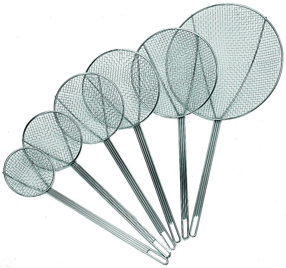 Update International SKM-7WG Nickel-Plated Round Medium Mesh Skimmer 7""