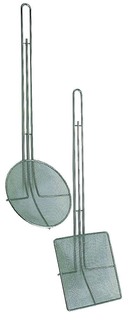 Update International SKM-SQF Nickel-Plated Square Fine Mesh Skimmer 6-3/4""