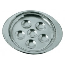 Update International SN-PL6 Stainless Steel 6 Hole Snail Dish