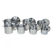 "Update International SPC-120 Stainless Steel Stock Pot Cover 12-3/8"" For SPS-20 and SPSA-20"