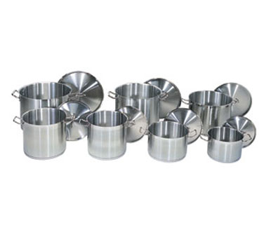 "Update International SPC-135 Stainless Steel Stock Pot Cover 14"" for SPS-24"