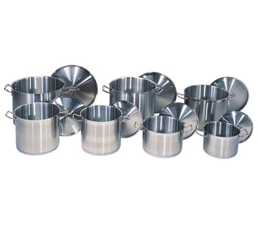 Update International SPS-100 Stainless Steel Stock Pot 100 Qt.