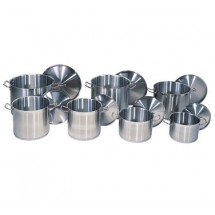 Update International SPS-24 24 Qt. Stainless Steel Stock Pot