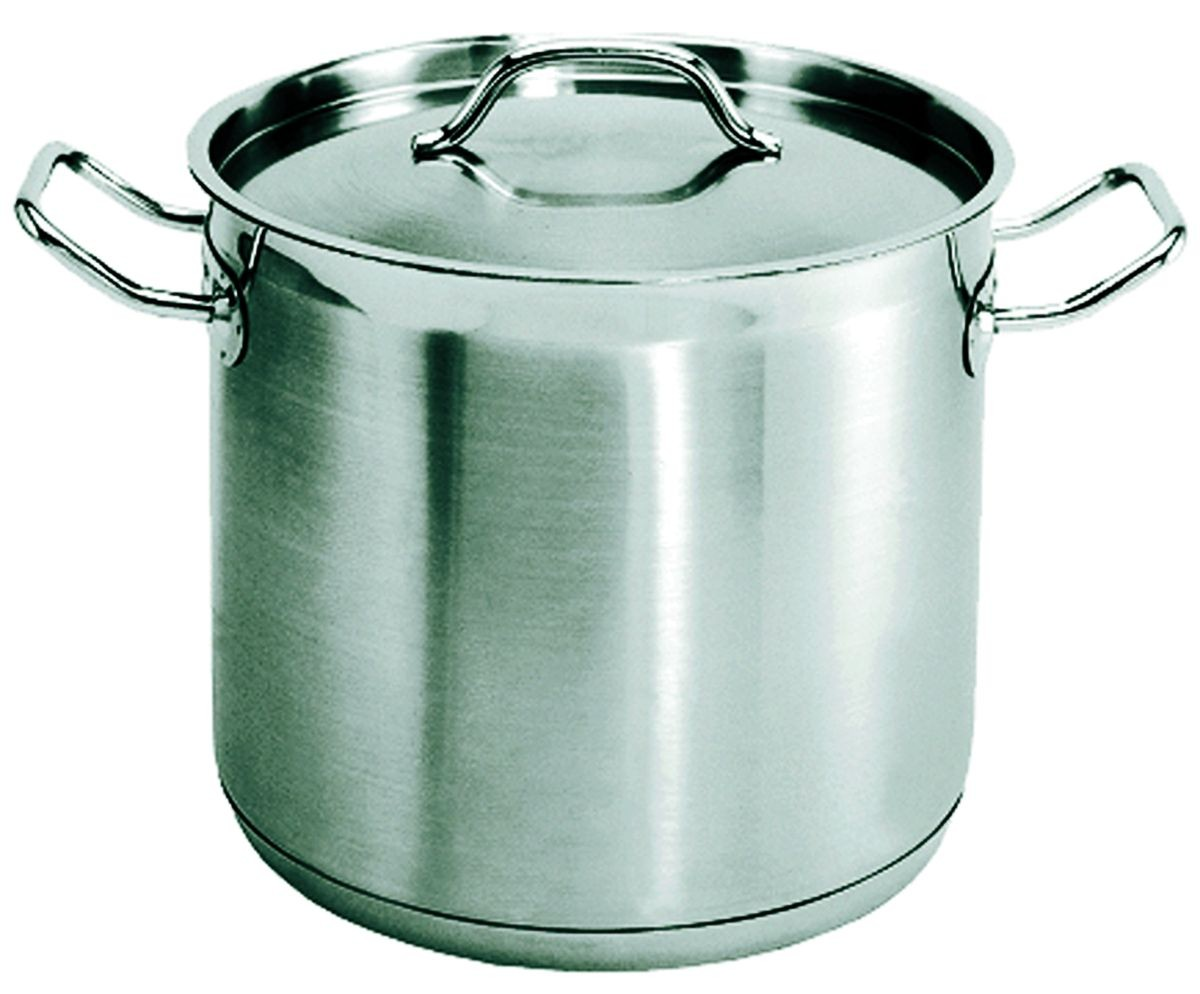 Update International SPS-8 Stainless Steel Stock Pot 8 Qt.