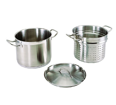Update International SPSA-20 Stainless Steel Pasta Cooker 20 Qt.