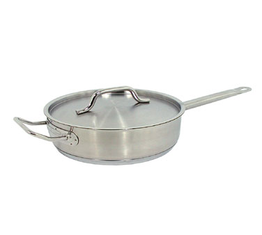 Update International SSAU-5 Stainless Steel Saute Pan 5 Qt.