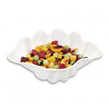 Update International SSB-5W 5 Qt. White Shell Salad Bowl