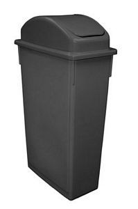 Update International SSC-23BK Black 23 Gallon Space Saver Trash Can