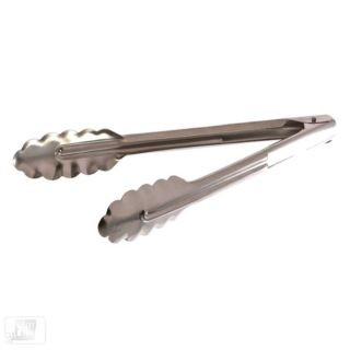 """Update International ST-9 Stainless Steel Spring Tong 9"""""""