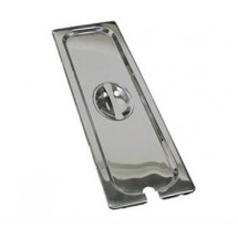 Update International STP-50LNC 1/2 Size Notched Long Steam Pan Cover