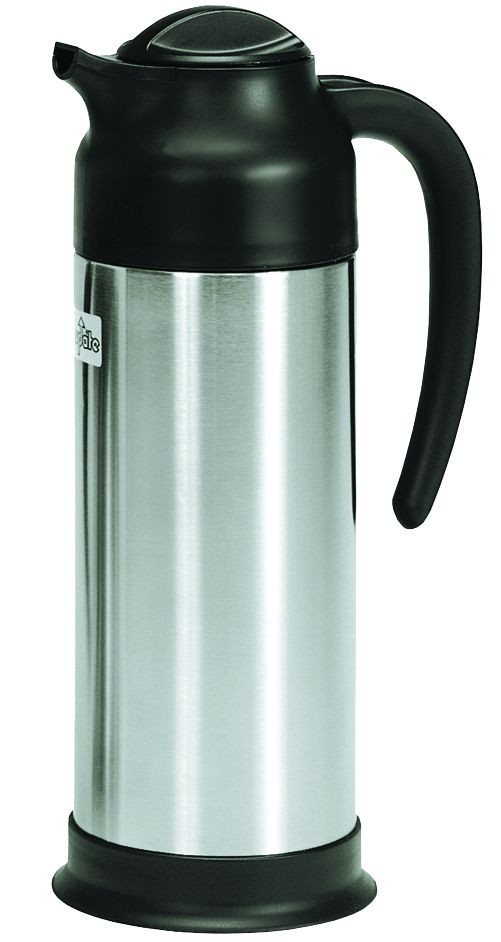 Update International SV-100 Black and Stainless Steel Carafe 1 Liter