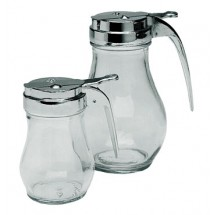 Update International SYDP-06 6 Oz. Glass Syrup Dispenser - 1 doz