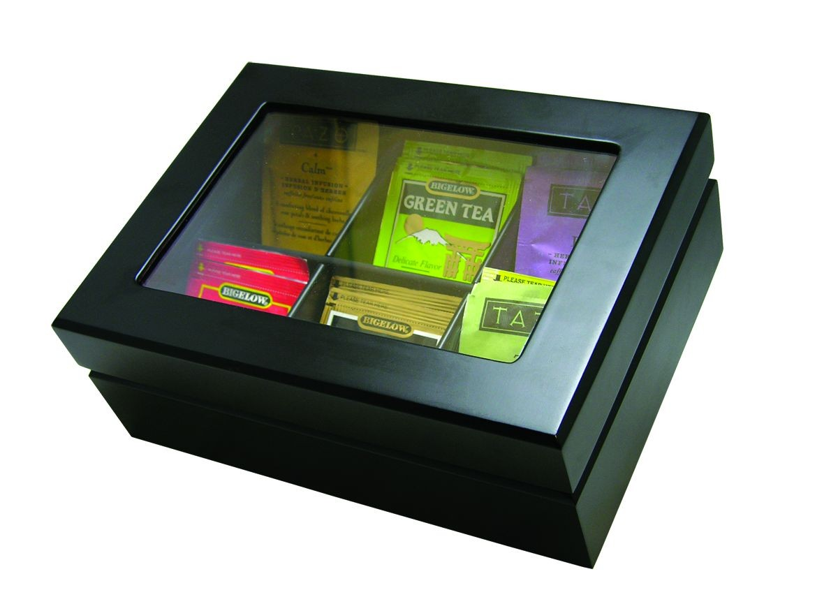 Update International TBC-6BK Wood Tea Bag Chest with Matt Finish
